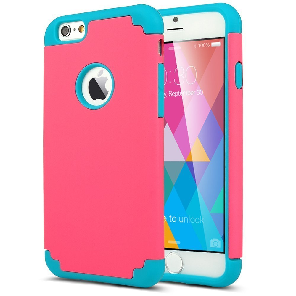 Cell Phone Cases Cover For iPhone 6/6S 4.7/Plus 5.5 Cover Slim Hybrid Dual Layer Shockproof Silicone Case Cover for Apple iPhone(China (Mainland))