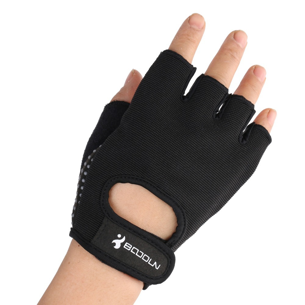 Free Shipping Half Finger Fitness Gloves Men gloves weightlifting gym gloves brace sports gloves Black Color(China (Mainland))