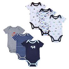 6 Pieces Lot Mother Nest Newborn Baby Bodysuit Roupas Bebes Baby Boy Layette Summer Body Bebe