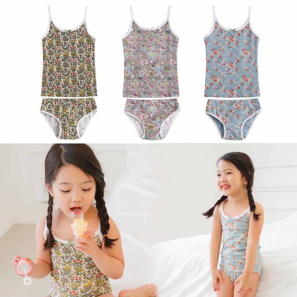 "NWT Authentic Vaenait Baby Kids Girls Panties Undershirts + Brief ""Flower Underwear set""(China (Mainland))"
