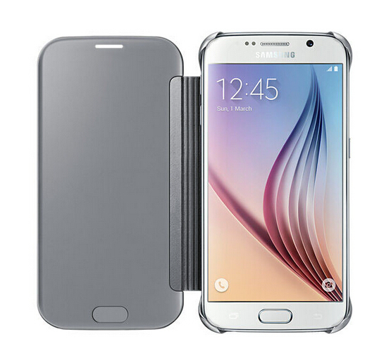 1PC s6 clear view cover Mirror Flip Smart Leather Case Cover Samsung Galaxy S6 - GSD Industrail Co.,Ltd store