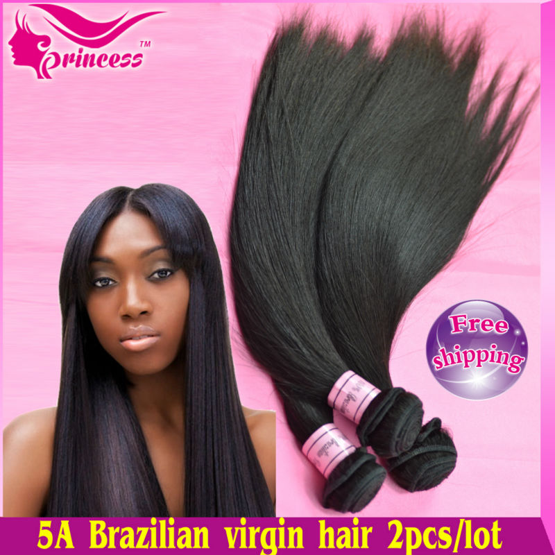 hair products brazilian straight virgin hair,100% human lot,Grade 5A,unprocessed - Princess co.,LTD store
