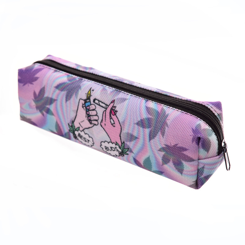 Best Buds 3D Printing Cosmetic Cases women cosmetic bag Zohra Fashion New pencil bag pouch travel