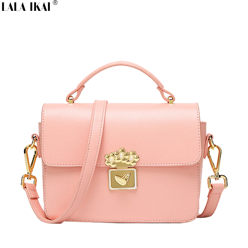 LALA IKAI Spring Summer Lady Style Handbags Pink Tote Bag Original Brand Women's Shoulder Bag Small Girls' Hand Bag BWC1153-5(China (Mainland))