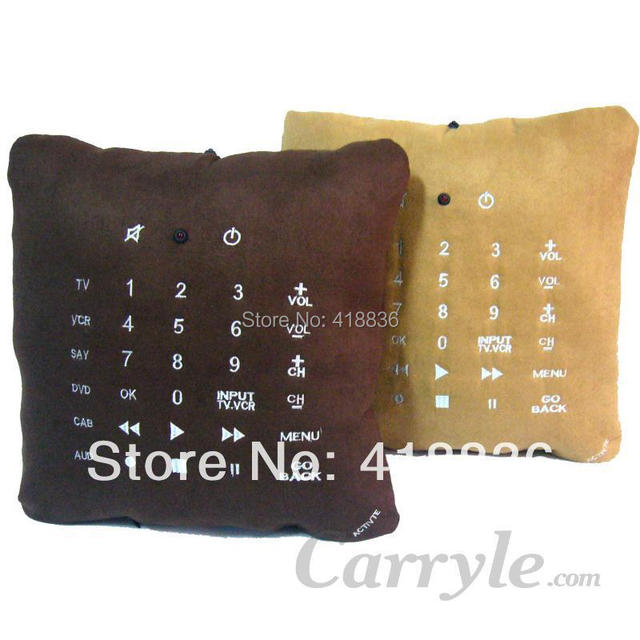 Pillow Remote Control 6 in 1  Learnable Khaki color