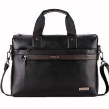 free shipping POLO men bag Casual Briefcase Business Shoulder Genuine Leather Bag Messenger Bag Computer Laptop Handbag Bag (China (Mainland))