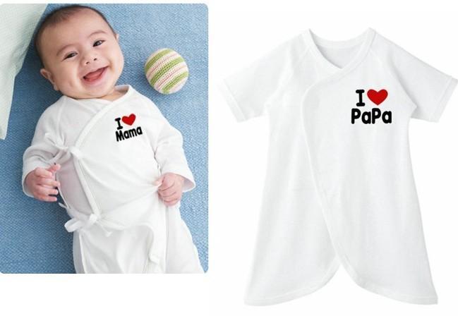 Fashion 100% pure Cotton White Color Boy Girl Unisex Baby Clothing Sets Pajamas - Summer Sunshine Store store