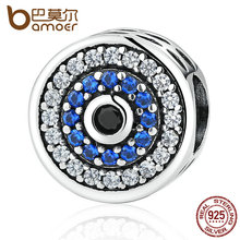 Buy BAMOER Real 100% 925 Sterling Silver Blue Crystals Eyes Round Bead Charms Fit Women Charm Bracelets & Bangles Jewelry SCC092 for $7.90 in AliExpress store