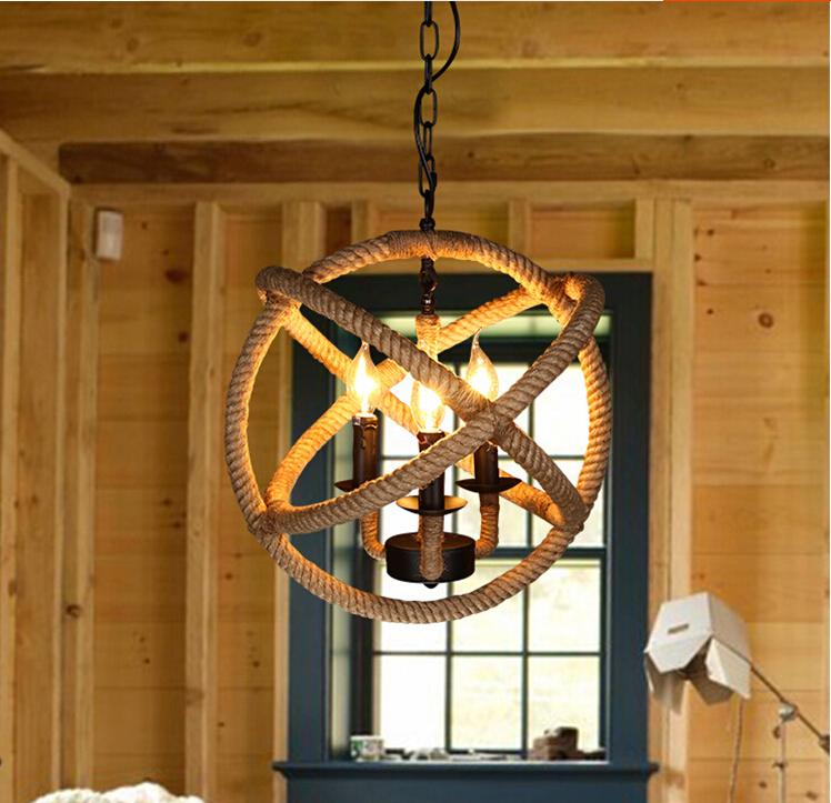 Rustic Light Industrial Chandelier Rope Pulley By: Rope Orb Chandelier Rustic Lighting Industrial Ceiling