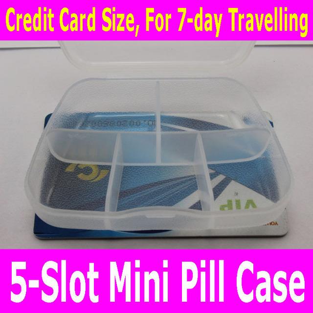 5 слот мини таблетки коробка ювелирных изделий контейнер небольшой милый медицина ...