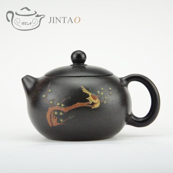 Yixing purple clay painting teapot zisha sand tea pot kungfu set 230ml JN1314