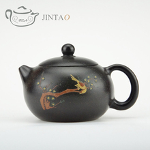 Yixing purple clay painting  teapot zisha sand tea pot kungfu  set  230ml JN1314