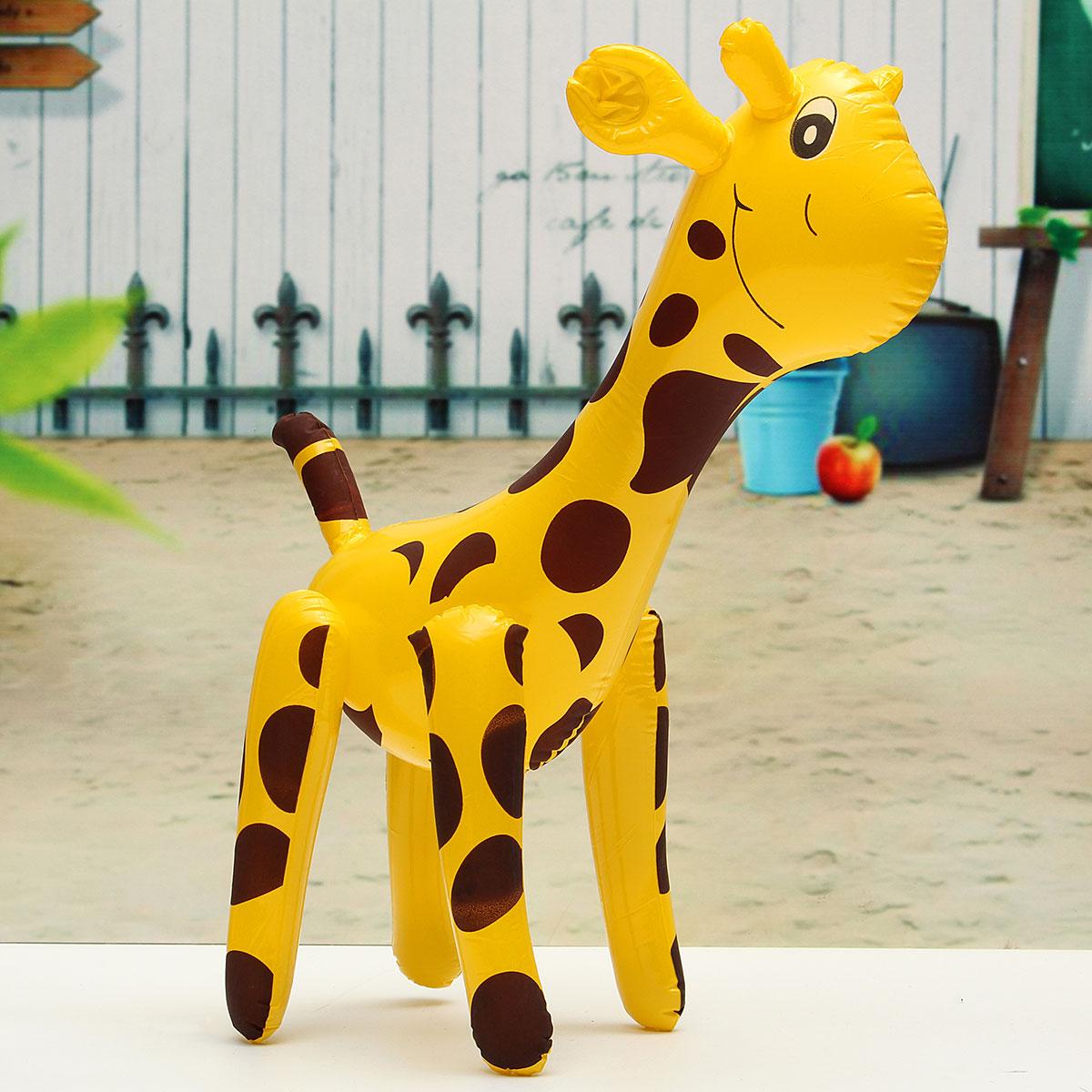 Friendly PVC Giraffe Design Inflatable Toys Children Deer Shaped Balloons Infaltable Cartoon Animals(China (Mainland))