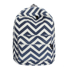 2015 Preppy Style Women Backpack Bags Double-Shoulder Sweet Stripe Canvas Travel Backpacks Schoolbag Backpacks For Teenage Girls(China (Mainland))