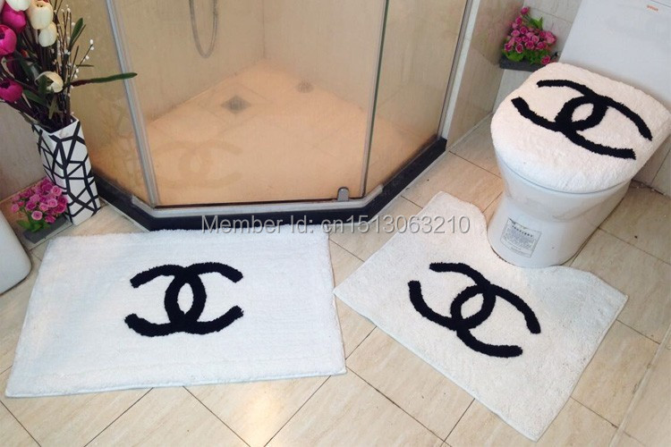 2018 Top Por Toilet Rug Set Bathroom Anti Slip Mat Modern Chanel Rugs
