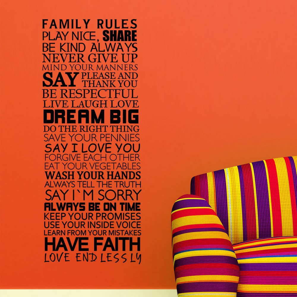 Family house rules share dream big say i love you have for Love the house you have