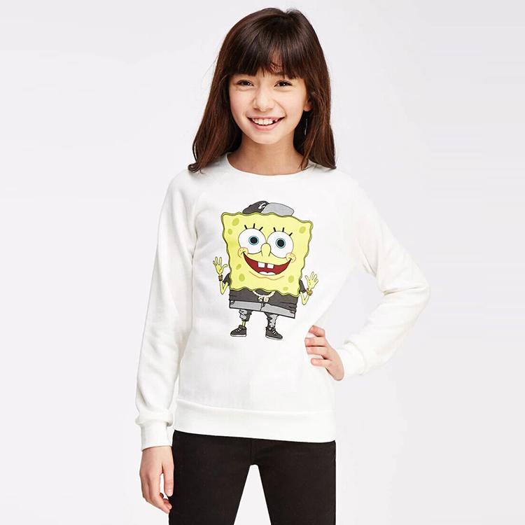 Гаджет  Swanlike Rushed 100% Cotton Yiyi 2015 New Winter Girl Spongebob Squarepants Cartoon Back Digital Print T-shirt Children Sweater  None Изготовление под заказ