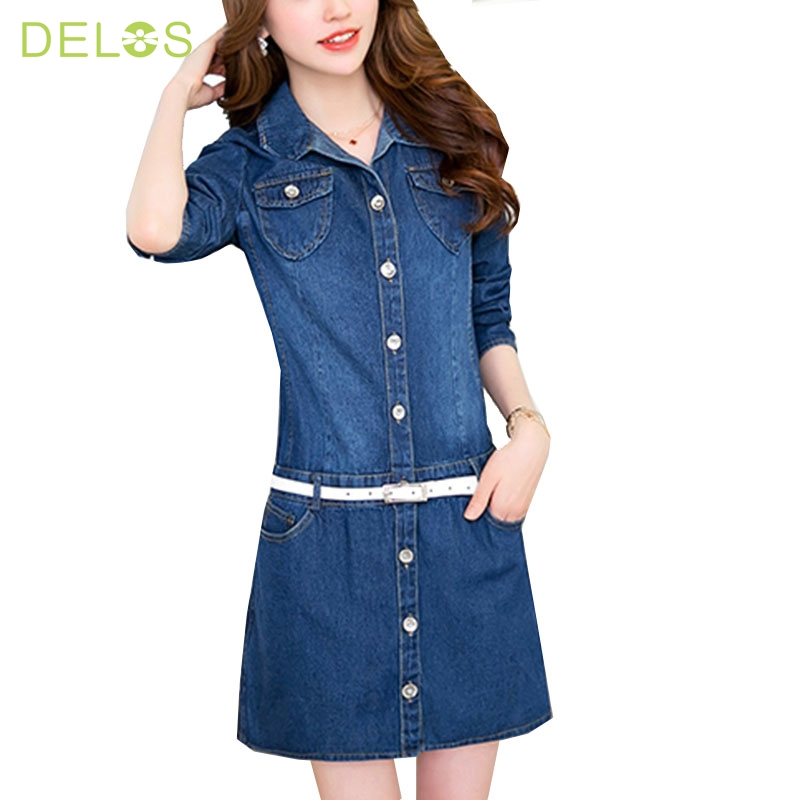 Innovative Women Sexy V Neck Denim Tunic Dress Cowboy Long Sleeve Party Cocktail