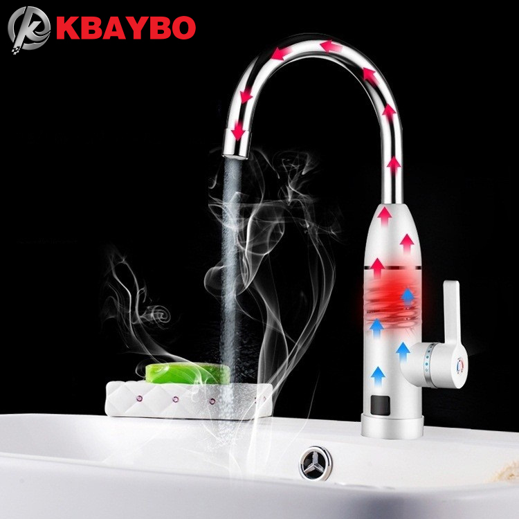 3sec Instant Tankless Electric Water Heater Faucet Kitchen Heating faucet Tap Shower Hot Cold Dual-Use 3000W  -  Armor Houseware Co,LTD. store