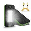 DCAE New Portable solar power bank Real 12000mAh solar Panel External Battery 2 USB Power Bank