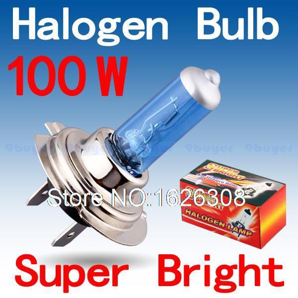 2pcs H7 100W 12V Super Bright White Fog Lights Halogen Bulb High Power Car Headlights Lamp Car Light Source parking(China (Mainland))