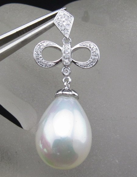 Pearl Pendant, SOLID 14kt WHITE GOLD DIAMOND PENDANT SETTINGS, Pearl Settings, Fashion<br><br>Aliexpress