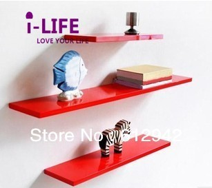 Only Wholesales 100PCS Straight board MDF floating wall shelves/shelf wall mount by ocean shipping