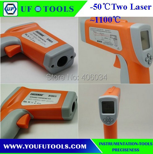 UF-8011 Hand-held Portable Digital Double laser Infrared /Mini Thermometer -50~1100 degree