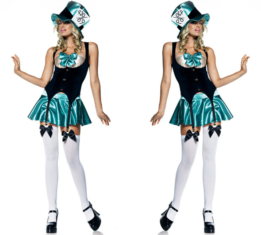 Tea party Tea Party Sexy Halloween cosplay party dress stage performance clothing dance show(China (Mainland))