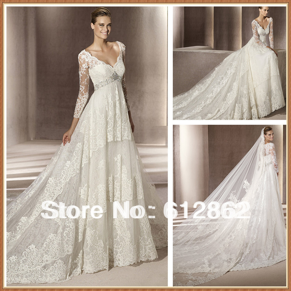 Buy vestidos de novia 2016 wedding for Wedding dresses with sleeves for sale