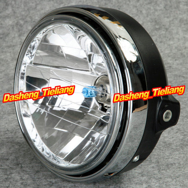Chrome Halogen Headlight Lamp For Honda CB400 CB500 CB1300 Hornet 250/ 600 / 900 VTEC VTR 250(China (Mainland))