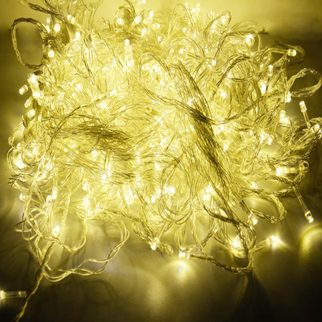Led String Lights Wedding : 220V EU 100M 600 LED String Light Christmas Outdoor Decoration Wedding Party Twinkle Fairy ...