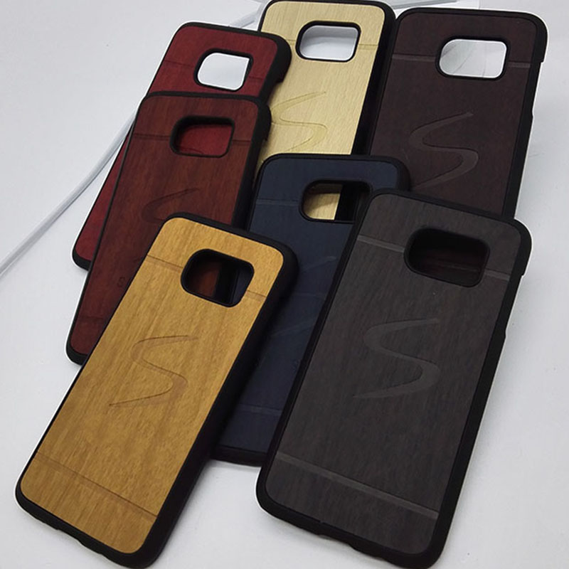 original luxury hard case for samsung s6 g9200 / s6 edge g9250 s 6 mobile phone cover shell by wood back fashion wooden cases(China (Mainland))