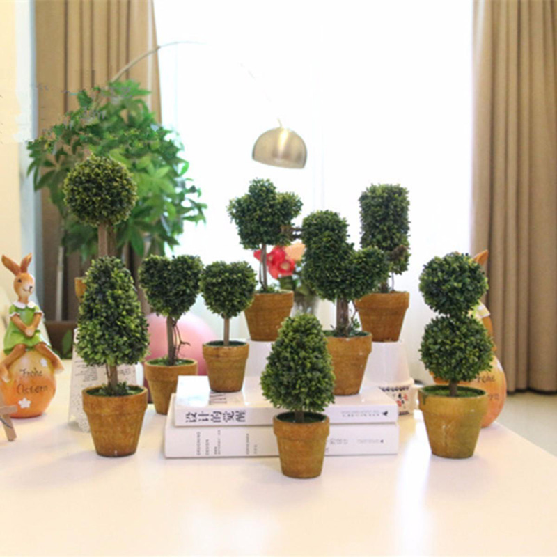 DIY Artificial Plastic Trees In Pots Plants Potted Fake