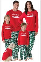 Family Matching Father Son Mon Baby New Year Family Look Sets 2017 New Matching Mother Daughter Clothes Family Christmas Pajamas(China)