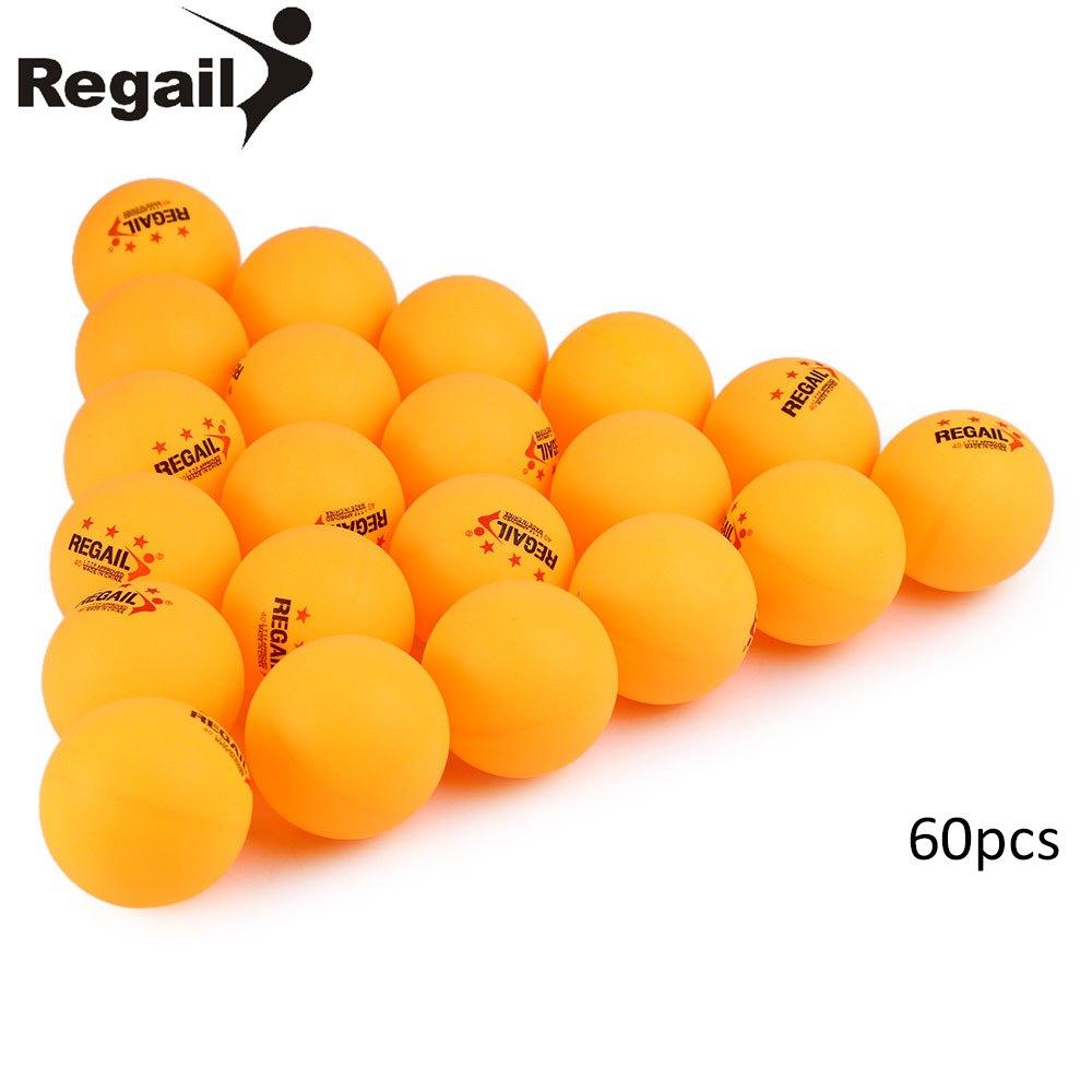 Hot sale REGAIL original 60pcs 40mm 3-star Stand Table Tennis Balls Olympic plastic Ping Pong balls Orange white color(China (Mainland))