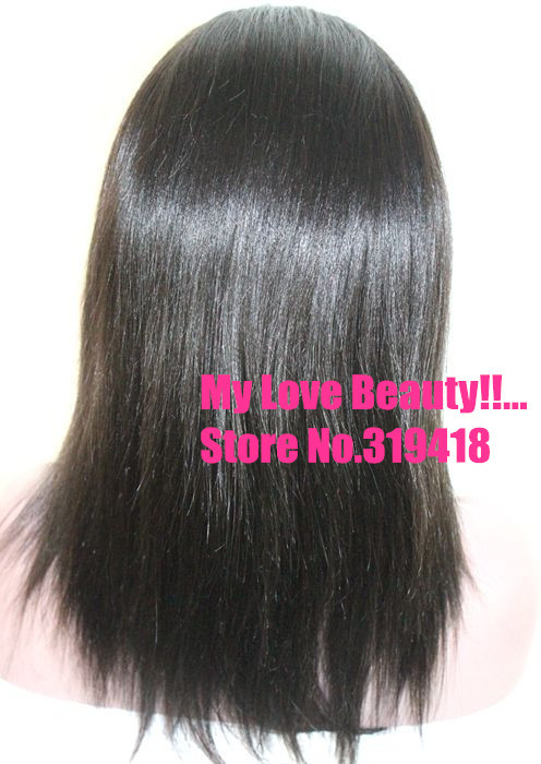 14inch Yaki Straight  Top sale! 100% Human Hair Brazilian Remy Gluless Lace Front Wig &amp; Full Lace Wig Wholesale Price Cheaper!<br><br>Aliexpress