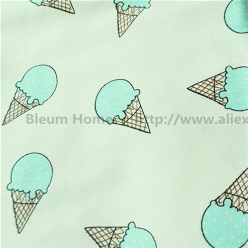 Half meter ice cream roll dots printed fabric telas for patchwork baby linens cotton kids handmade cloth quilt dress decoration(China (Mainland))