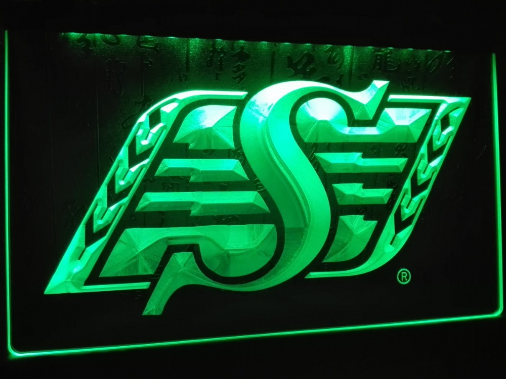 ld418 saskatchewan roughriders sport led neon light sign