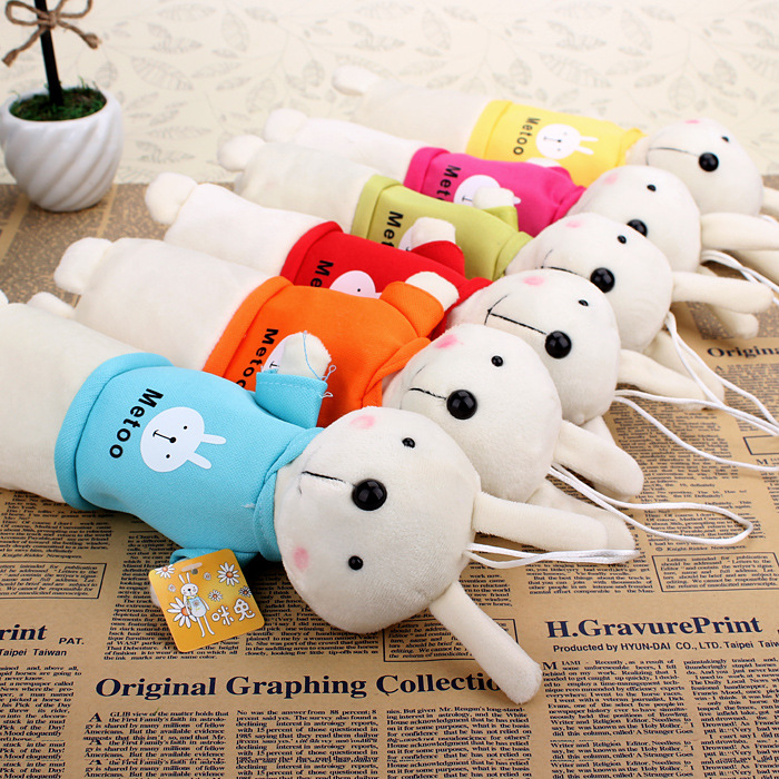 Korea Cute Plush Rabbit Style Large Capacity Pencil Cases Multifunctional Pencil Bags For School Supplies Free Shipping 04843(China (Mainland))