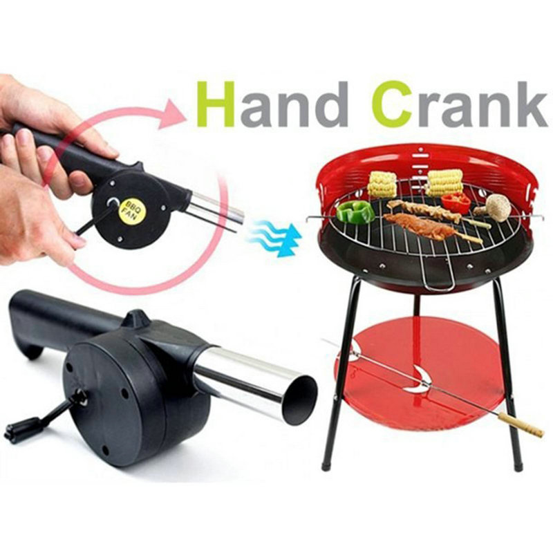 Novelty Outdoor Travel Picnic Barbecue Cooking Tool Hand Crank Fan Air Blower(China (Mainland))