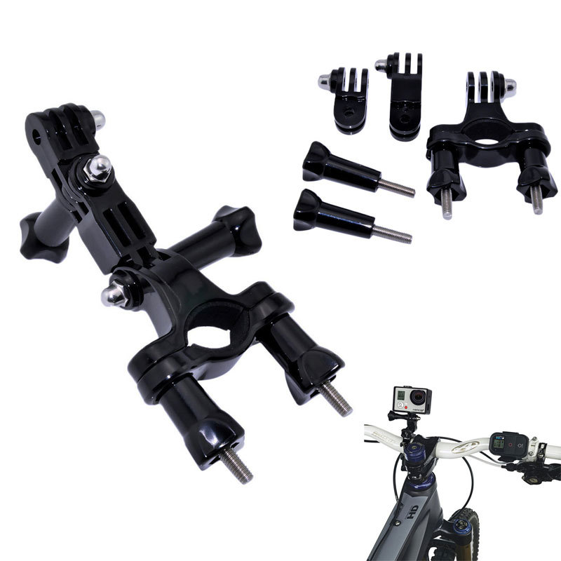 GoPro Accessories Motorcycle Bike Handlebar Seatpost Pole Mount & 3 Way Adjustable Pivot Arm for go pro Hero3 hero 3