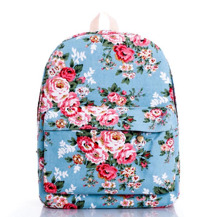 big backpack bags, Japan middle school students' general bag retro rose women leisure packages - jian ye's store