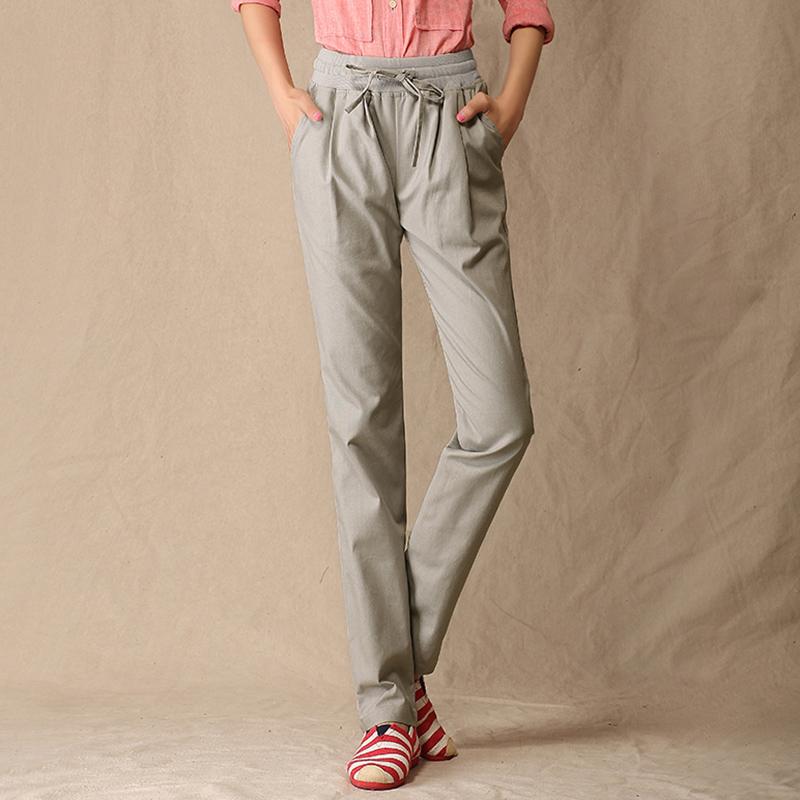 Plus Size Drawstring Linen Pants Promotion-Shop for Promotional ...
