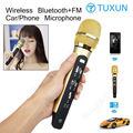 Tuxun Q7 Smartphone Wireless Karaoke Microphone Portable Wireless Handheld Karaoke Player Bluetooth Singing Speaker Singer