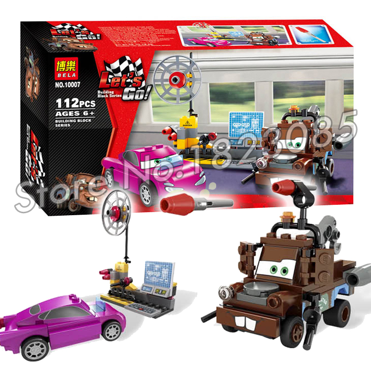 112pcs Bela 10007 Pixar cars 2 MATER'S SPY ZONE Building Model Toys Minifigures Bricks Sets Action Figure Compatible With Lego(China (Mainland))