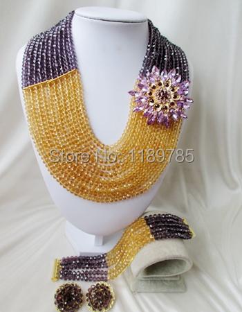 Luxury Bridal India women Jewelry Set Nigerian Crystal Beads necklace Jewelry suit fashion Wedding Set Free Shipping B-12603<br><br>Aliexpress
