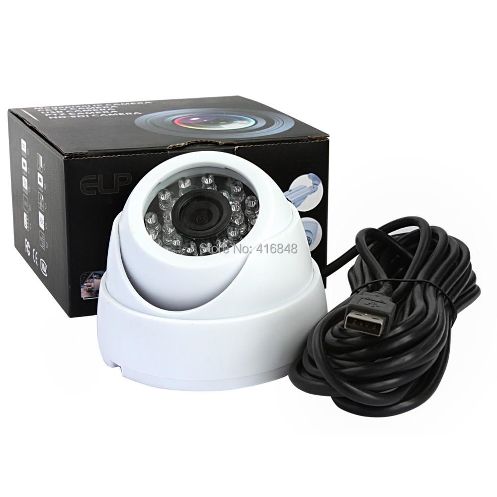 640x480 Vga Outdoor Night Vision Ir Security Dome Usb