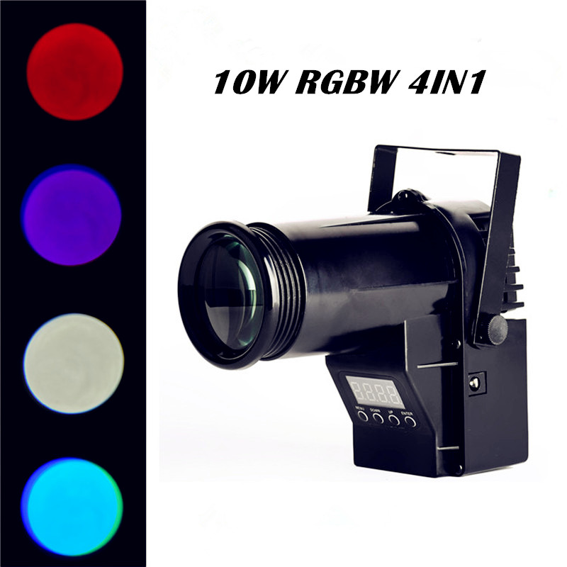 MiNi Laser Projector 10W RGBW 4in1 Led Pinspot Spotlights Disco Spot DMX Luces Discotic Beam DJ Stage Party Show Light(China (Mainland))