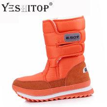 Nữ Tuyết Khởi Động Mùa Đông Khởi Động phụ nữ phẳng không thấm nước 2019 Giày Botas Mujer Botas femininas de inverno Đen Trắng cộng với kích thước(China)
